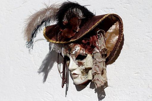 Mask, Venice, Facemask, Mysterious, Italian, Carneval