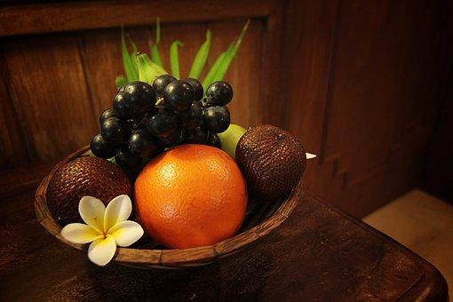 Fruits, Tropical, Food, Background, Banner, Orange