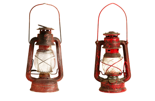 Kerosene Lamp, Isolated, Glass Transparent, Light