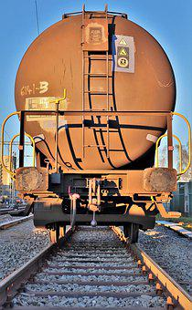 Railway, Train, Goods Wagons, Tank Wagon, Rail