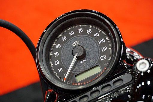 Motorcycle, Harley-davidson, Speedometer, Harley