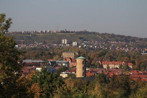 Stuttgart, View, Observation Tower, Tower, High