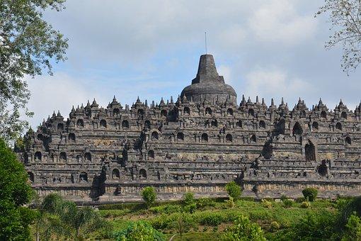 Indonesia, Java, Temple, Buddha, Borobudur