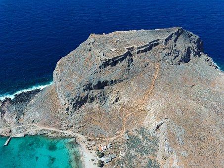 Gramvousa, Greece, Crete, Landscape, Sea, Beach, Island