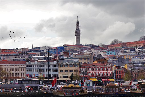 Tower, Istanbul, Beyazit, Fire Tower, On, Buildings