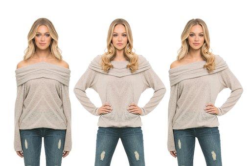 Triplets, Identical, Women, Poses, Ladies, Pretty