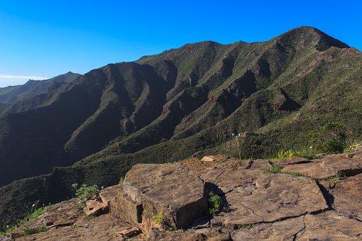 Masca, Tenerife, Spain, Village, Bergdorf, Rock, Gorge