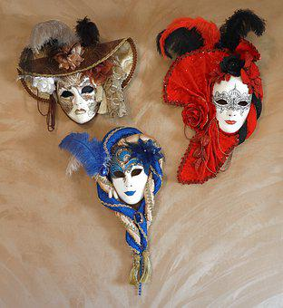 Mask, Venice, Panel, Carnival, Facemask, Venezia, Hide