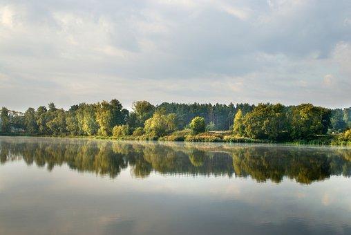 Water, Figure, Mountain, Lake, Landscape, Summer