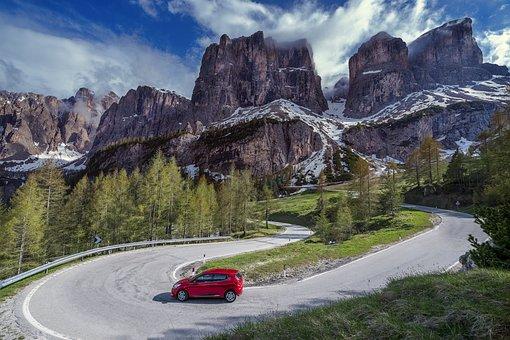 Dolomites, Italy, Mountains, Landscape