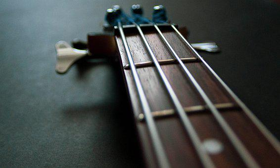 Electric Bass, Music, Vibration, Rhythm, Strings, Sound
