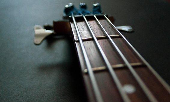 Electric Bass, Music, Vibration, Rhythm, Strings, Sound