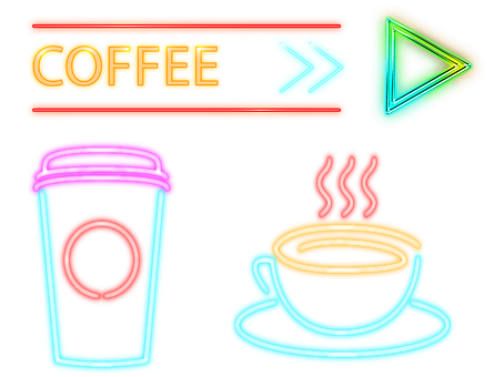 Neon Sign, Coffee, Cafe, Neon
