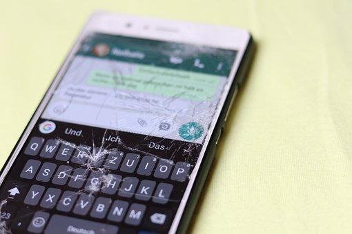 Defect, Display, Screen, Broken, Cellphone, Phone