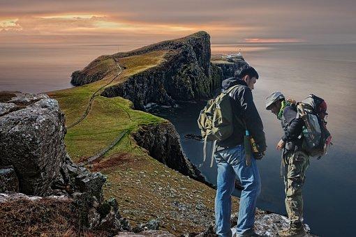 Photomontage, Hiking, United Kingdom