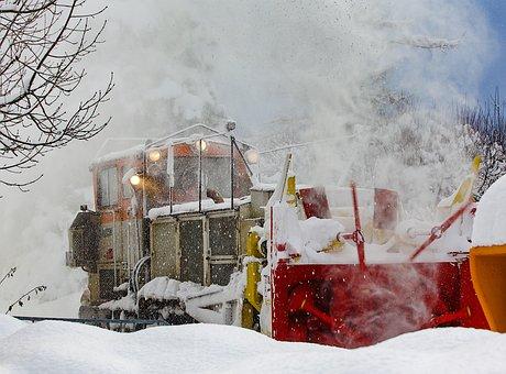 Train, Snow, Winter, Travel, Transport, Railway
