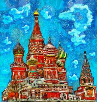 Moscow, Church, Russia, Architecture, Religion, Dome