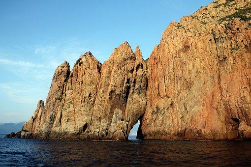Cliff, Sea, Coast, Water, Nature, Landscape, Rock