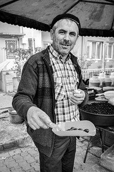 Man, People, Olives, Seller, Turkey, Turk