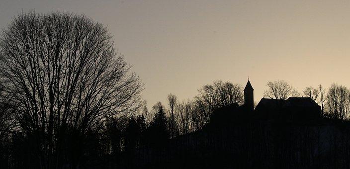 Landscape, Silhouette, Bavarian Forest, Backdrop