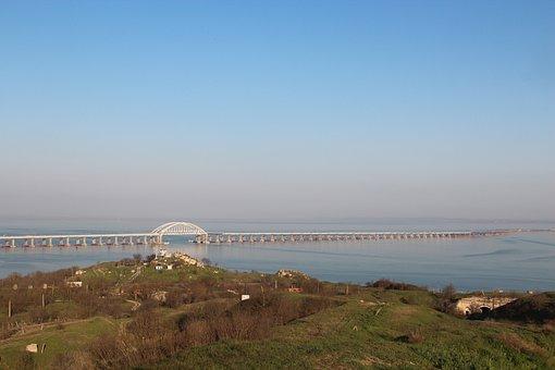 Bridge, Crimea, Crimean Bridge, Spring, Nature