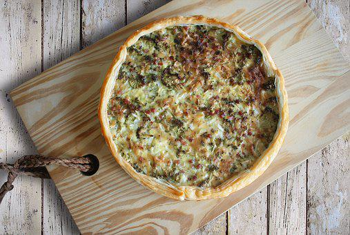 Quiche, Puff Pastry, Meal, Tasty, Broccoli, Bacon, Eat