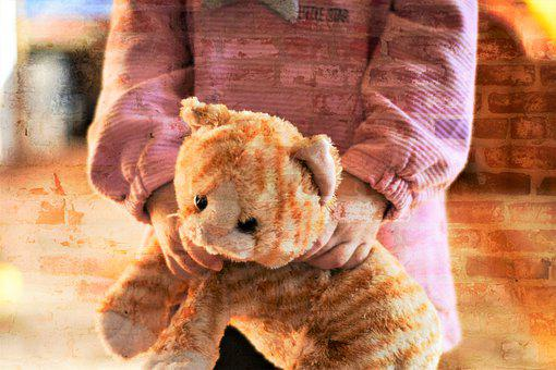 Child, Stuffed Animal, Childhood, Luck, Joy, Teddy