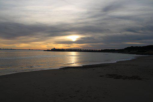 The Port Of Santa Maria, Beach, Sunset, The Lace