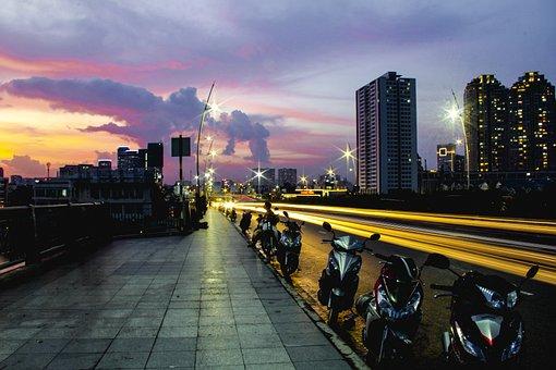 City, Light, Architecture, Urban, Buildings, Cityscape