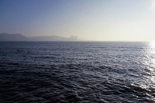 Water, Rio, Landscape, Tagus River, Day, Pier, Scenario