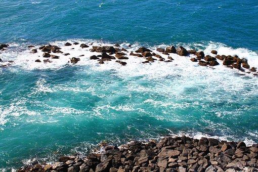 Ocean, Cliff, Beach, Sea, Coast, Water, Nature, Rock