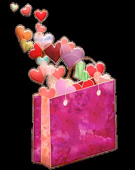 Watercolor Valentine Bag, Valentines, Hearts