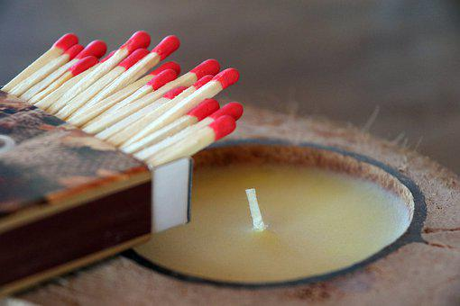 Matches, Sticks, Candle, Kindle, Wick, Mood, Atmosphere