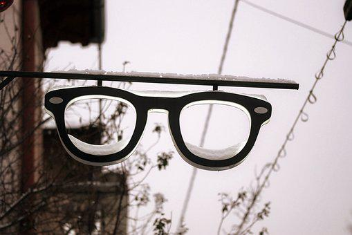 Elements, Ad, Center, Commercial, Glasses, Building