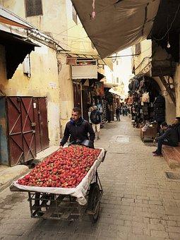 Strawberries, People, Poverty, Work, Alley, Food, Suk