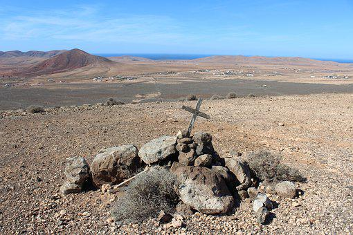 Cross, Fuerteventura, Sea, Ocean, Nature, Blue, Sky
