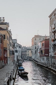 Gondola, Canal, Venice, Italy, City, Water