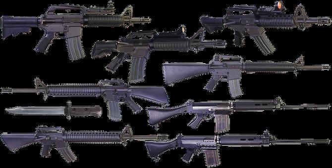 Rifle, Weapons, Carbine, Colt M16