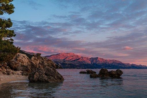 Medici, Croatia, Dalmatia, Central Dalmatia, Sunset