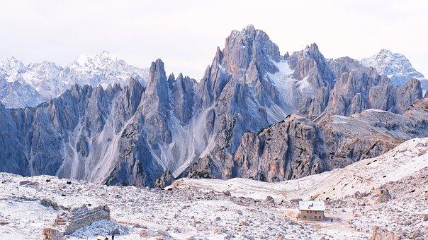 Peak, Hut, Dolomite, Italy