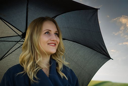 Girl, Woman, Human, Person, View, Screen, Umbrella