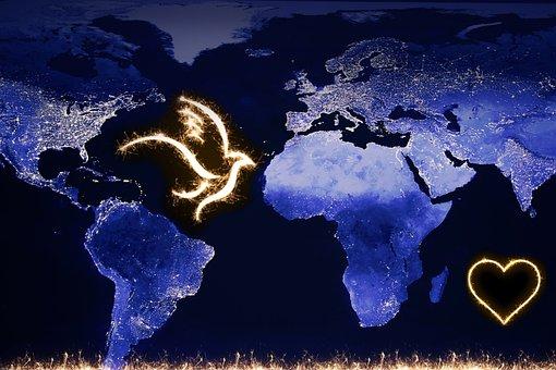 World Peace, Global, Peace Dove, Symbol, Earth, Globe
