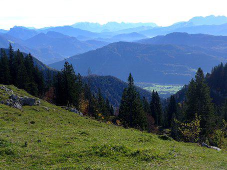 Bavaria, Autumn, High Mountains, Color Perspective