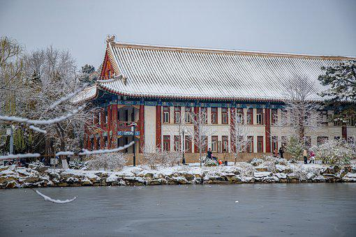 Architecture, Snow, Lake, Winter, House, Building, City