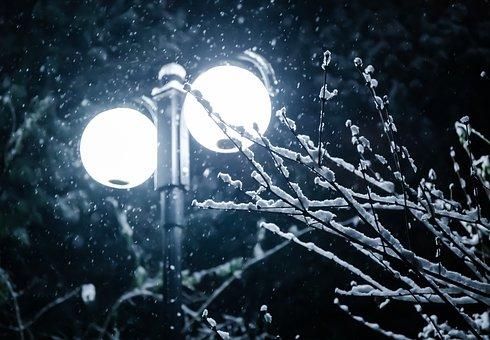 Winter, Snow, Lamp, Lantern, Cold, Nature, Landscape