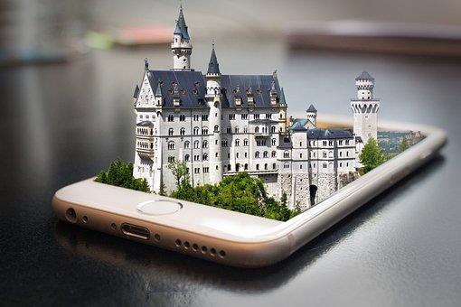 Kristin, Castle, Mobile Phone, Photoshop, Smartphone