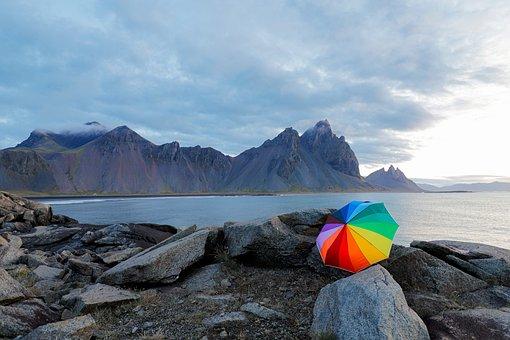 Iceland, Stokksnes, Nature, Landscape, Sea, Mountains