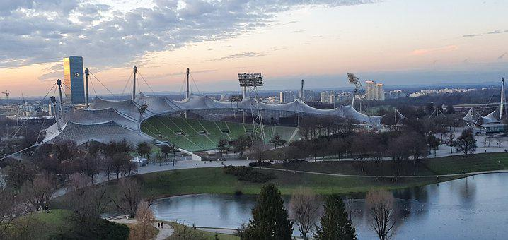 Munich, Olympia, Olympic Park, Stadium, Architecture