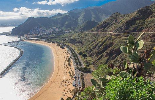 San Andres, Beach, Palm Trees, Tenerife, Spain