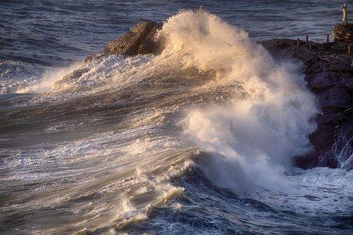 Recco, Liguria, Sea Storm, Sea, Italy, Camogli, Water